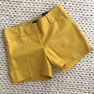 The Limited Yellow Tailored Shorts